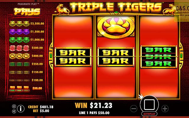 รีวิวเกมสล็อต ยอดฮิต Triple Tigers LINES
